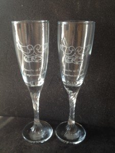 mariage 15€ les deux verres